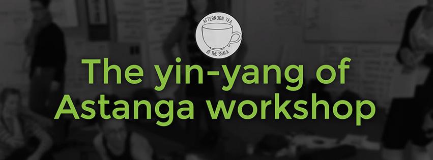 A5 yin yang workshop flyer