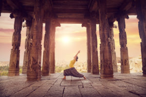 yoga in a temple